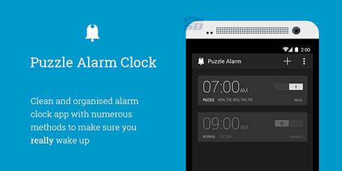 نرم افزار بیدار باش (برای اندروید) - Puzzle Alarm Clock 2.3 Android