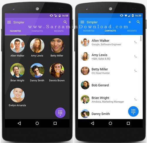 نرم افزار مدیریت مخاطبین (برای اندروید) - Simpler Contacts and Dialer Pro 6.3.9.8 Android