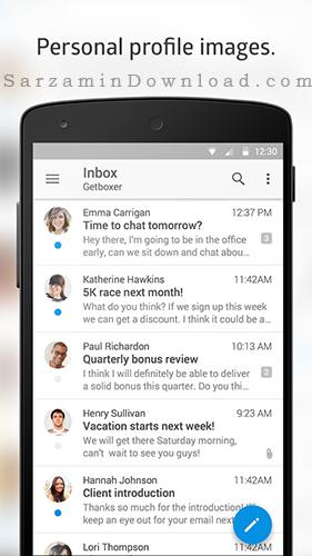 نرم افزار مدیریت ایمیل (برای اندروید) - Boxer Pro 2.8.2 Android