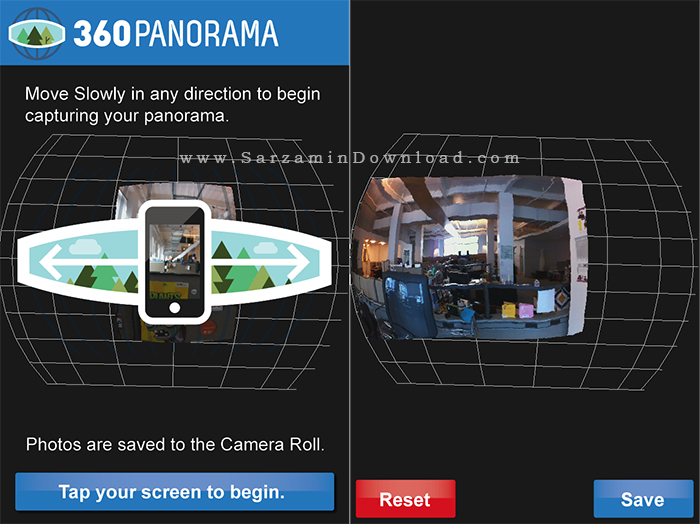 نرم افزار دوربین پانوراما (برای آیفون) - Panorama 360 v.4.4.3 iOS