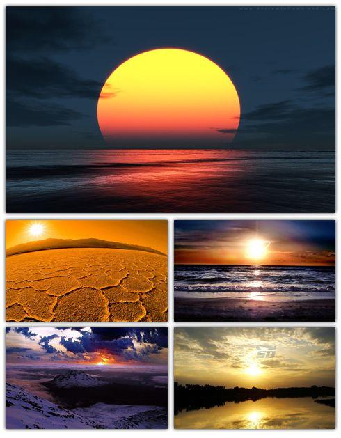 مجموعه تصاویر والپیپر با موضوع غروب خورشید - Sunset Wallpaper