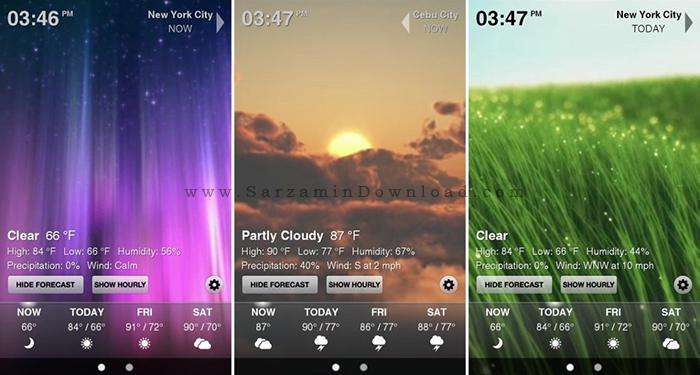 نرم افزار هواشناسی (برای آیفون) - eWeather 3.3 iOS