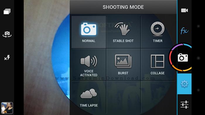 نرم افزار دوربین (برای اندروید) - Camera Zoom FX 6.2.1 Android