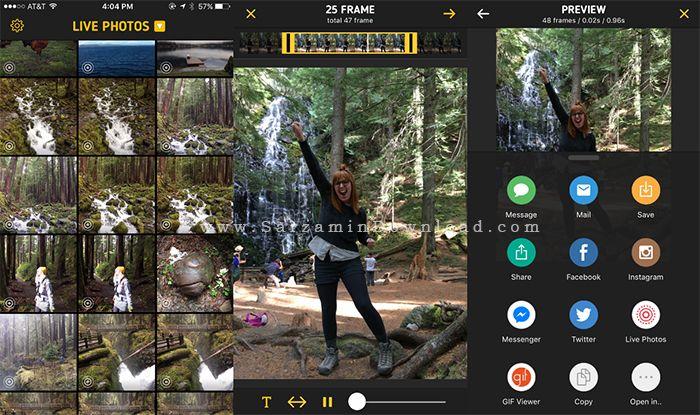 نرم افزار تبدیل عکس و ویدیو به GIF (برای آیفون) - ImgPlay Pro 3.0 iOS