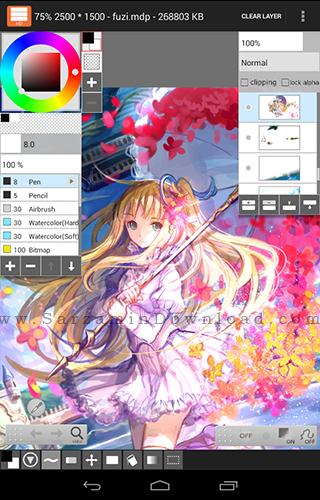 نرم افزار نقاشی (برای اندروید) - LayerPaint HD 1.6.2 Android