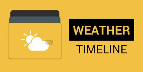 نرم افزار نمایش آب و هوا (برای اندروید) - Weather Timeline Forecast 1.6.6 Android