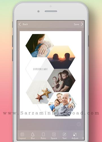 آموزش قرار دادن چند عکس در کنار هم در موبایل آیفون
