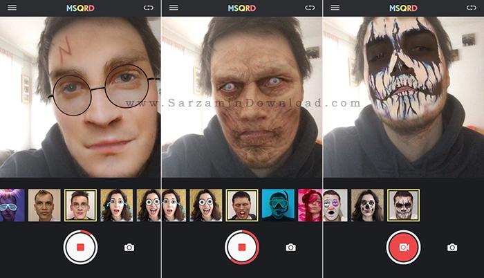 نرم افزار دوربین (برای اندروید) - MSQRD 1.8.1 Android