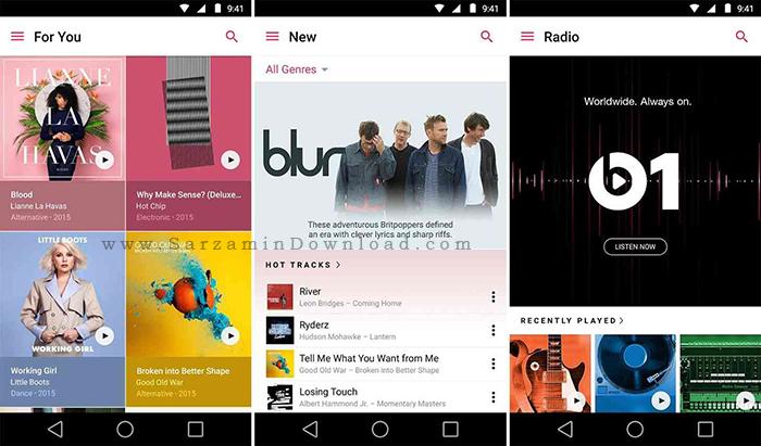 نرم افزار موزیک پلیر آیفون (برای اندروید) - Apple Music 0.9.11 Android
