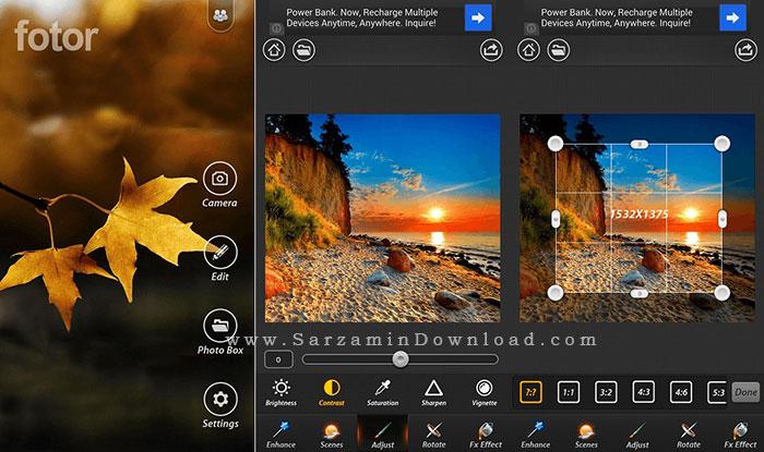 نرم افزار ویرایش عکس (برای اندروید) - Fotor 4.1.2 Android