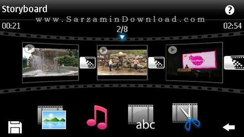 نرم افزار ویرایش فیلم (برای سیمبین) - Movie Editor Symbian
