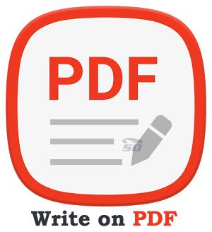 نرم افزار ویرایش فایل های PDF (برای اندروید) - Write on PDF 2.2.73 Android