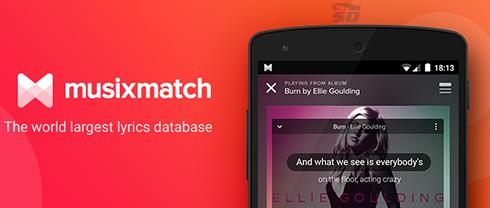 نرم افزار پخش کننده موزیک (برای اندروید) - Musixmatch 6.6.0 Android