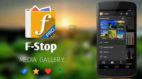نرم افزار گالری (برای اندروید) - F Stop Media Gallery Pro 4.8.1 Android