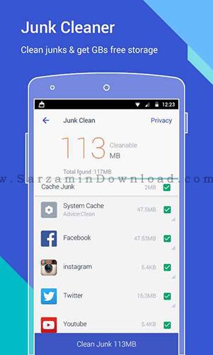 نرم افزار افزایش سرعت گوشی (برای اندروید) - Power Clean 2.9.1.9 Android