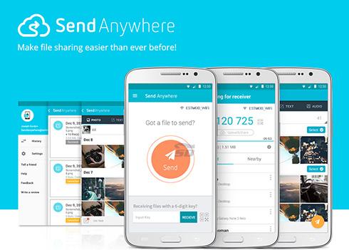 نرم افزار انتقال فایل (برای اندروید) - Send Anywhere 7.1.6 Android