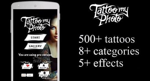 نرم افزار قرار دادن تتو روی بدن (برای اندروید) - Tattoo my Photo 2.70 Android