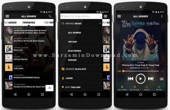 نرم افزار پخش کننده موزیک (برای اندروید) - Audiomack Free Music Mixtapes 3.0.5 Android