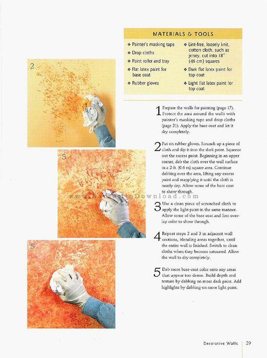 کتاب آموزش پتینه کاری روی دیوار