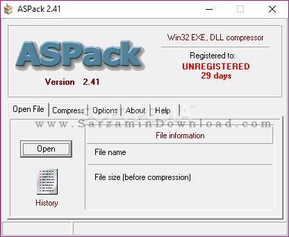 نرم افزار فشرده سازی فایل های اجرایی (برای ویندوز) - ASPack 2.40 Windows
