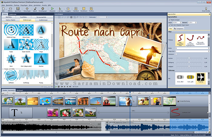 نرم افزار ساخت اسلایدشو (برای ویندوز) - AquaSoft SlideShow 10.5.04 Windows