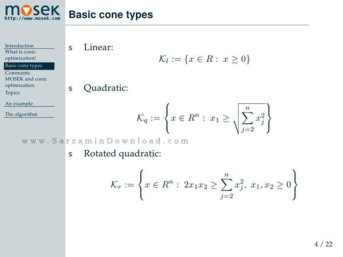 نرم افزار حل معادلات ریاضی (برای ویندوز) - Mosek Optimization Tools 7.1.0.63 Windows