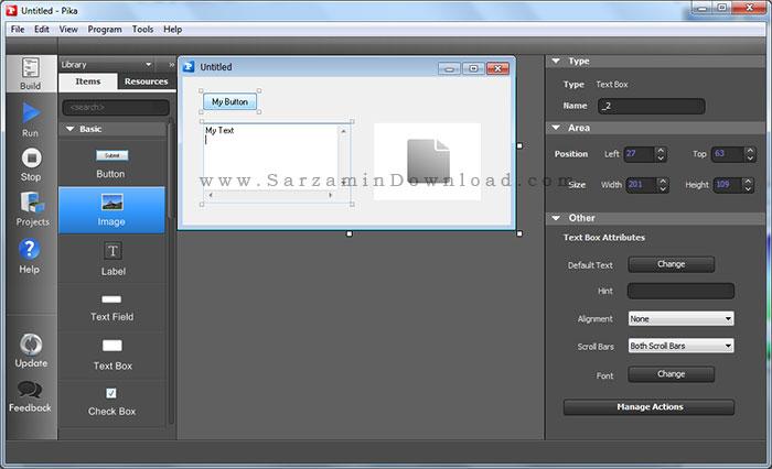 نرم افزار ساخت برنامه ویندوز بدون برنامه نویسی (برای ویندوز) - Pika Software Builder 6.0.0.4 Windows