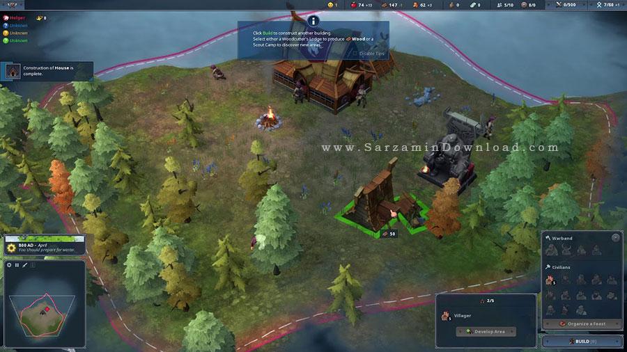 بازی نورثگارد (برای کامپیوتر) - Northgard Himminbrjotir Clan of the Ox PC Game