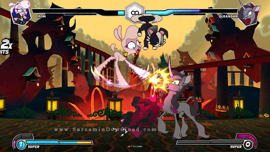 بازی گروه های مبارز، نسخه طلایی (برای کامپیوتر) - Thems Fightin Herds Gold Edition PC Game