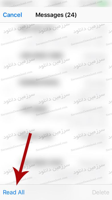 آموزش حذف دایره قرمز رنگ گوشه آیکون پیامها در آیفون