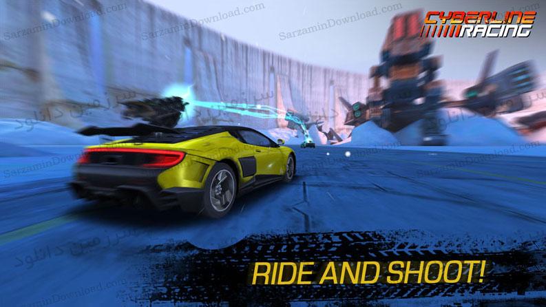 بازی ماشینسواری در جادههای مرگبار (برای اندروید) - Cyberline Racing 1.0 Android