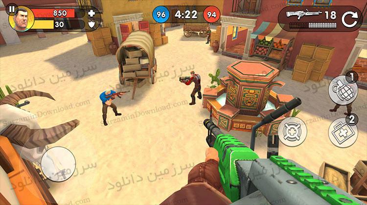 بازی اکشن تیراندازی آنلاین (برای اندروید) - Guns of Boom - Online Shooter 1.9.3 Android