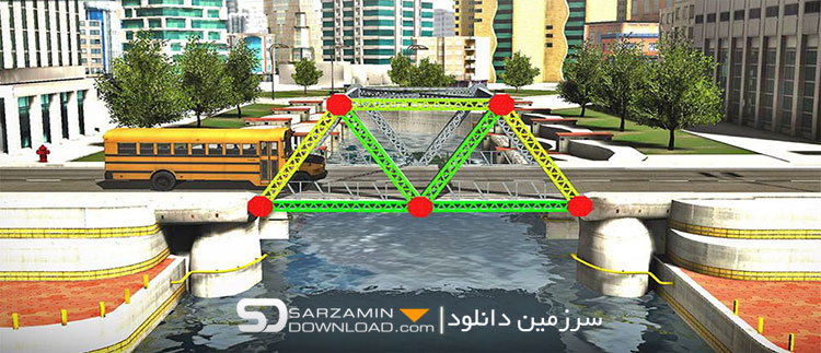 بازی شبیهسازی شده پلسازی (برای اندروید) - Bridge Construction Simulator 1.0.3 Android