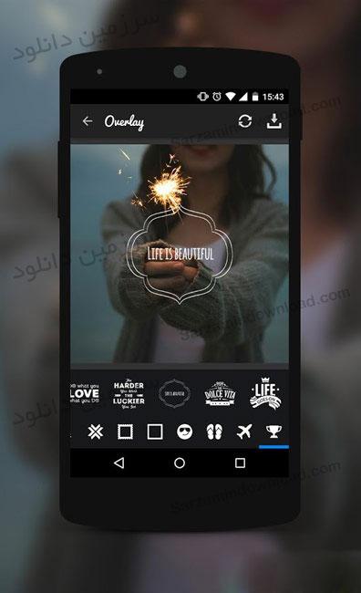 نرمافزار اضافه کردن آیتم روی تصاویر (برای اندروید) - Overlay 1.1.9 Android