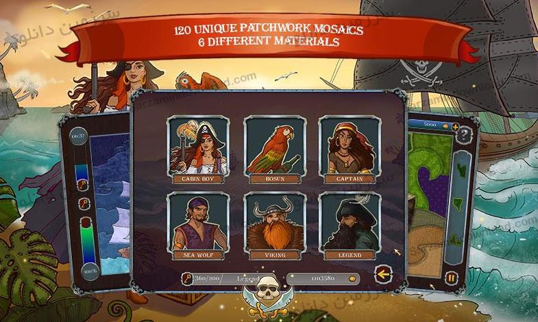 بازی پازلی دزدان دریایی (برای اندروید) - Pirate Mosaic Puzzle 1.0 Android