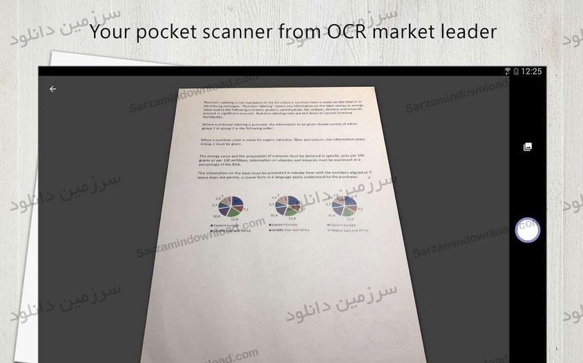 نرمافزار اسکنر مدارک و اسناد (برای اندروید) - FineScanner - PDF Document Sanner App 1.10.529 Android