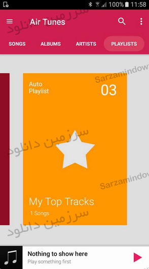 نرمافزار موزیک پلیر (برای اندروید) - Air Tunes Music Player Pro 1.3.2 Android