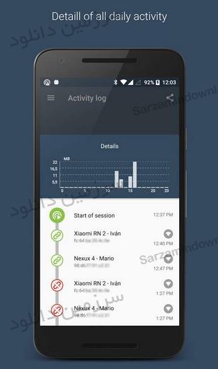 نرمافزار به اشتراکگذاری و مدیریت اینترنت (برای اندروید) - Data Sharing - Tethering PRO 2.1.5 Android