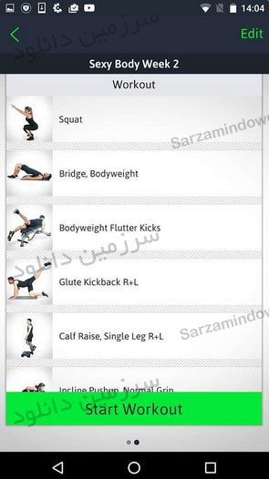 نرمافزار آموزش تمرینات ورزشی در خانه (برای اندروید) - Home Workouts Personal Trainer Full 2.7.1 Android