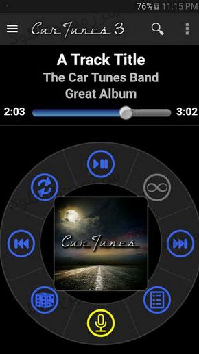 نرمافزار موزیک پلیر خودرو و رانندگی (برای اندروید) - Car Tunes Music Player Pro 3.0.1 Android