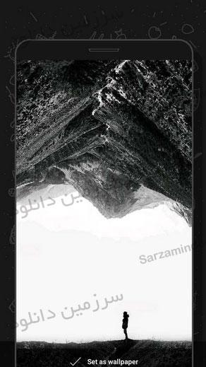 نرمافزار مجموعه تصاویر پس زمینه برای صفحات آمولد (برای اندروید) - Darkor Wallpapers 1.0 Android