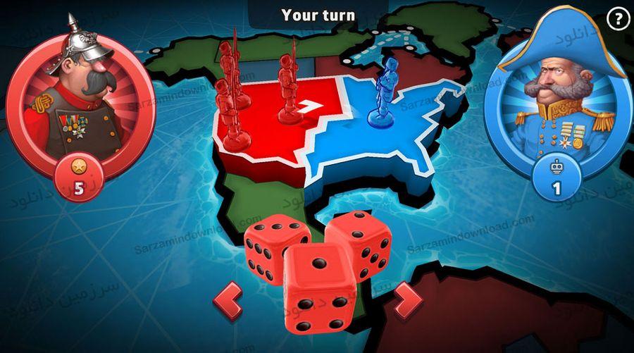 بازی خطر: تسلط بر دنیا (برای اندروید) - RISK: Global Domination 1.12.46.375 Android