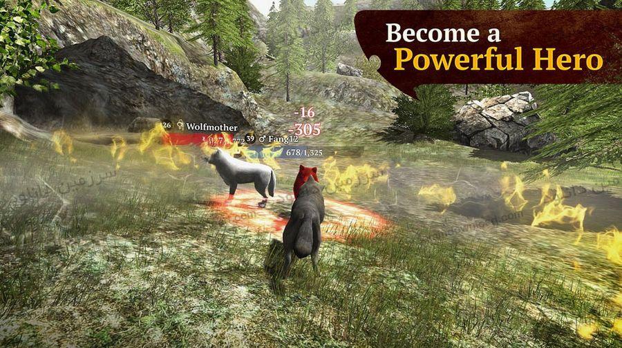 بازی شبیه ساز گرگ (برای اندروید) - The Wolf 1.2.1 Android