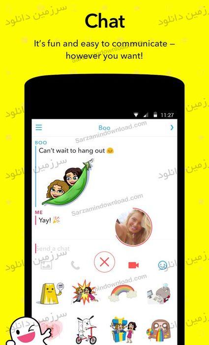 نرم افزار اسنپ چت (برای اندروید) - Snapchat 10.17.1.0 Android