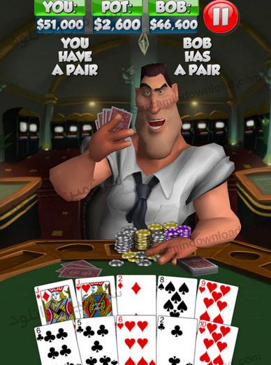 بازی پوکر بازی با باب (برای اندروید) - Poker With Bob 2.0.0 Android