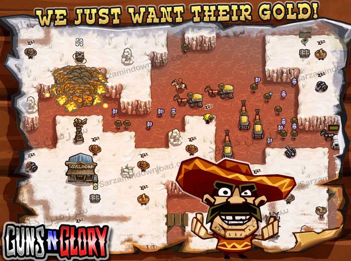 بازی افتخار اسلحه (برای اندروید) - Guns n Glory Premium 1.8.1 Android