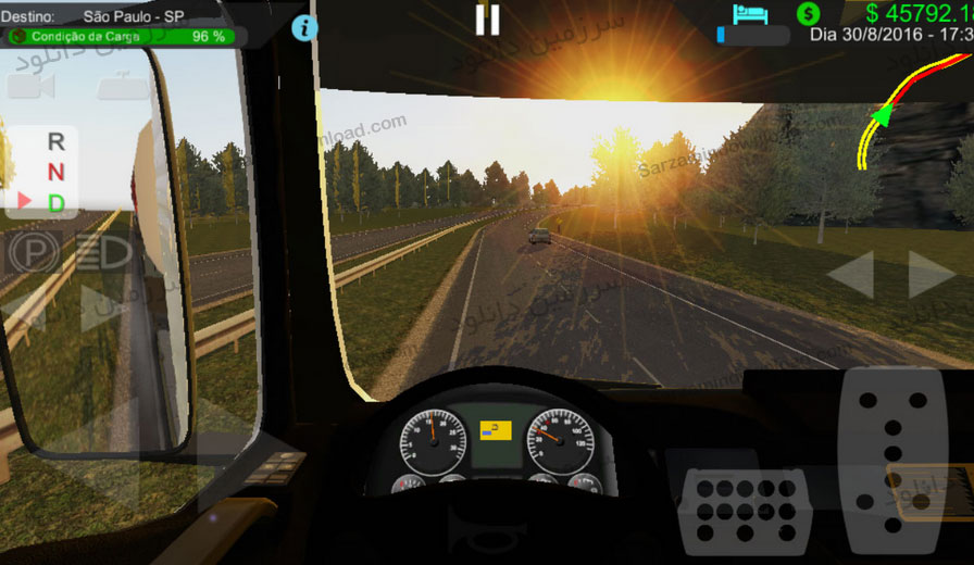 بازی شبیه ساز کامیون و تریلی (برای اندروید) - Heavy Truck Simulator 1.933 Android
