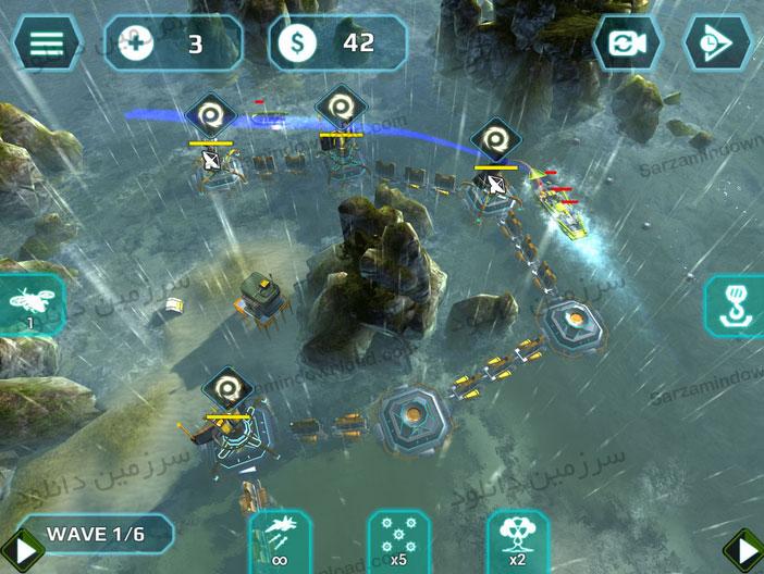 بازی طوفان دریایی (برای اندروید) - Naval Storm TD Full 0.7.2 Android