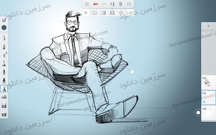 نرم افزار نقاشی (برای اندروید) - Autodesk SketchBook 3.7.6 Android
