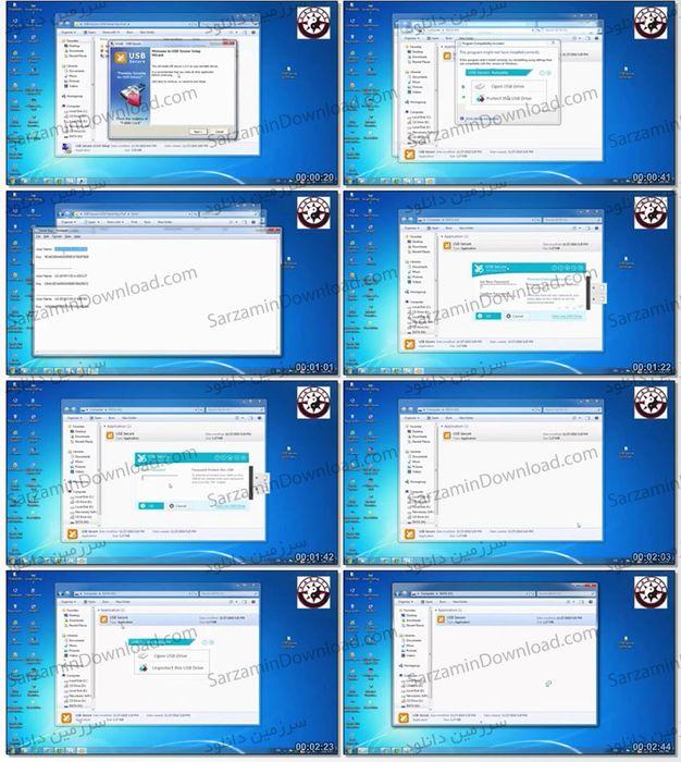 آموزش رمزگذاری کردن روی فلش مموری با استفاده از نرمافزار USB Secure (فیلم آموزشی)